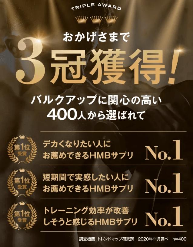 3冠を獲得!