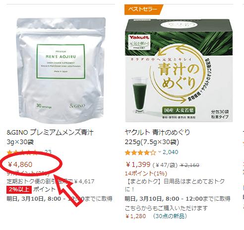 プレミアムメンズ青汁(amazon)-min